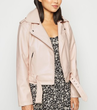 New Look Petite Leather-Look Biker Jacket