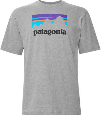Patagonia Responsibili-Tee Logo-Print Melange Cotton-Blend Jersey T-Shirt