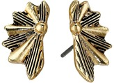 Sam Edelman Etched Fan Stud Earrings
