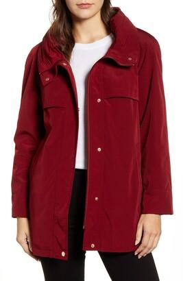 Gallery Pleat Hooded Raincoat