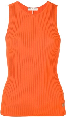 Emilio Pucci Ribbed Sleeveless Knitted Top