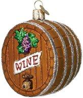 Old World Christmas Wine Barrel Christmas Ornament