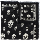Alexander McQueen Black skull print scarf - women - Silk/Modal - One Size