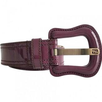Fendi Purple Patent leather Belts