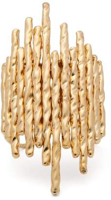 Venini The Attico Gold Plated Bronze Cuff - Womens - Gold