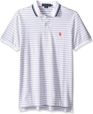 U.S. Polo Assn. Men's Slim Fit Short Sleeve Printed Jersey Polo Shirt