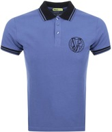 Versace Short Sleeved Polo T Shirt Navy