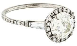 Monique Péan Platinum 1.33ct Diamond Engagement Ring