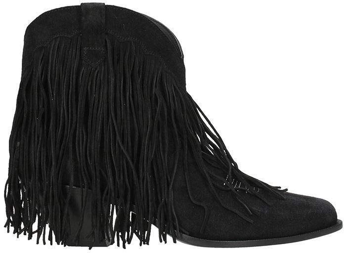 Golden Goose Black Suede Levriero Boots