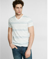 Express Striped Crossover V Neck Tee
