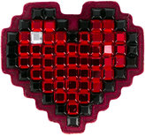 Anya Hindmarch Heart sticker - women - Suede/Crystal - One Size