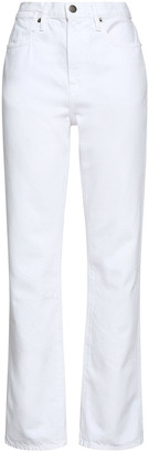 Frame High-rise Straight-leg Jeans