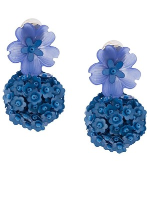 Sachin + Babi Floral Embellished Charm Earrings
