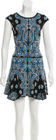 Torn By Ronny Kobo Intarsia Drop Waist Dress