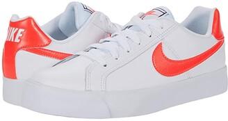 Nike Court Royale AC (White/Flash Crimson/Gum Light Brown) Women's Shoes