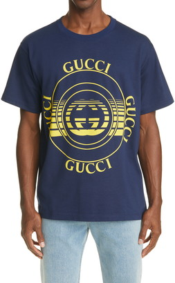 Gucci Disk Logo Men's Graphic Tee