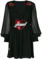 Philipp Plein embellished balloon sleeve mini dress - women - Polyester/Spandex/Elastane/Viscose - M