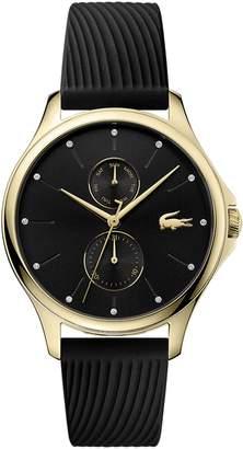 Lacoste Women's Multi Dial Quartz Watch with Black Silicone Strap