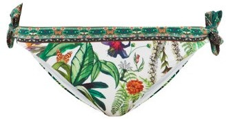 Camilla Daintree Darling Forest-print Bikini Briefs - White Print
