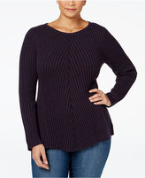 Style&Co. Style & Co. Plus Size Ribbed Sweater, Only at Macy's