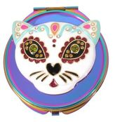 Betsey Johnson Colorful Cat Compact Mirror