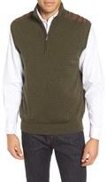 Bobby Jones Cambridge Quarter Zip Merino Wool Vest