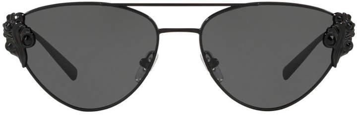 Versace Cat-Eye Metal Barocco Sunglasses