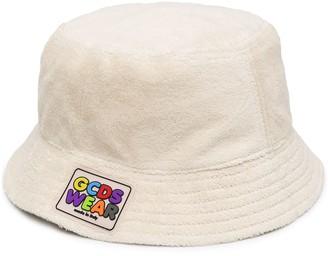 GCDS Logo Patch Terry-Cloth Bucket Hat