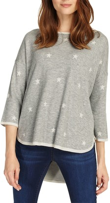 Phase Eight Star Jacquard Megg Knit Jumper, Grey Marl