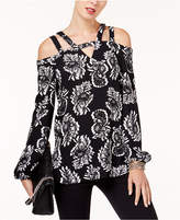 Alfani Double-Strap Cold-Shoulder Top, Created for Macy's
