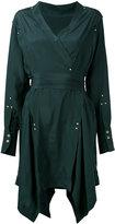 Isabel Marant handkerchief hem wrap dress - women - Silk/Brass - 38