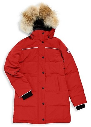 Canada Goose Little Kid's & Kid's Juniper Coyote Fur-Trim Down Parka
