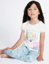 Marks and Spencer Peppa PigTM Short Sleeve Pyjamas (1-7 Years)