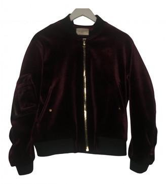 Sandro Fall Winter 2019 Burgundy Velvet Leather jackets