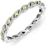 Celtic Sterling Silver Stackable Expressions Peridot Ring