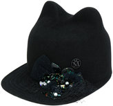 Maison Michel embellished cats ears cap