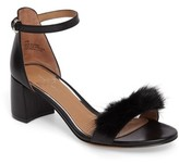 Linea Paolo Women's Hepburn Genuine Mink Fur Sandal