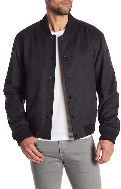 BOSS Coma Virgin Wool Blend Bomber Jacket
