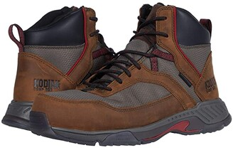 Kodiak MKT 1 Composite Toe Hiker (Brown/Red) Men's Shoes