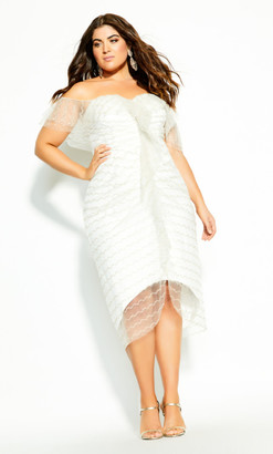 City Chic Jewel Dream Dress - ivory