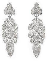 Louise et Cie Pavé Leaf Drop Earrings