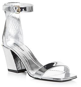 Burberry Women's Pirmont Block Heel Sandals