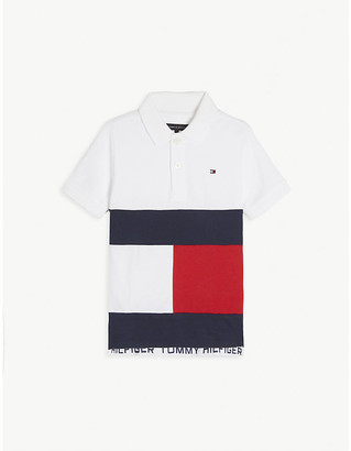 Tommy Hilfiger Colour-block cotton polo shirt 4-16 years