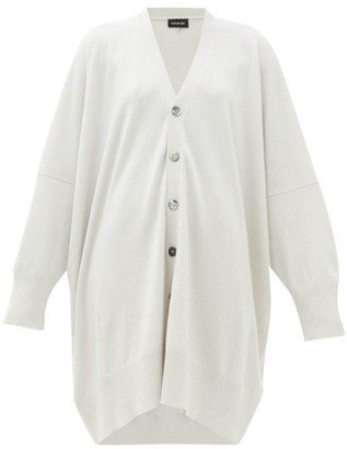 eskandar Long-line Cashmere Cardigan - Womens - Light Grey