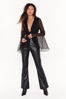 Nasty Gal Womens Changes Like the Faux Leather High-Waisted Flared Trousers - black - 14