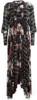 Preen by Thornton Bregazzi Printed Silk Dress with Velvet