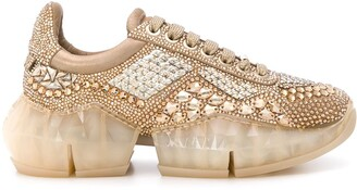 Jimmy Choo Diamond crystal-embellished sneakers