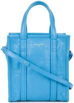 Balenciaga Blue Leather Bazar Shopper XS