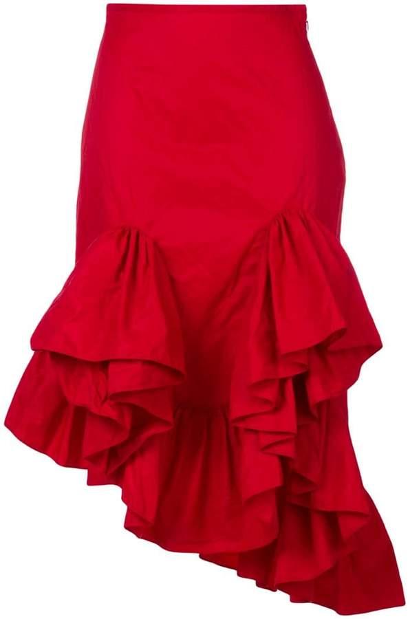 Marques`Almeida asymmetric flounce skirt