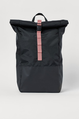 H&M Roll-top Backpack - Black